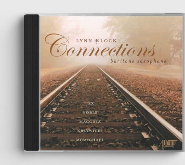 CD cover for Connections CD, photo of railroad tracks